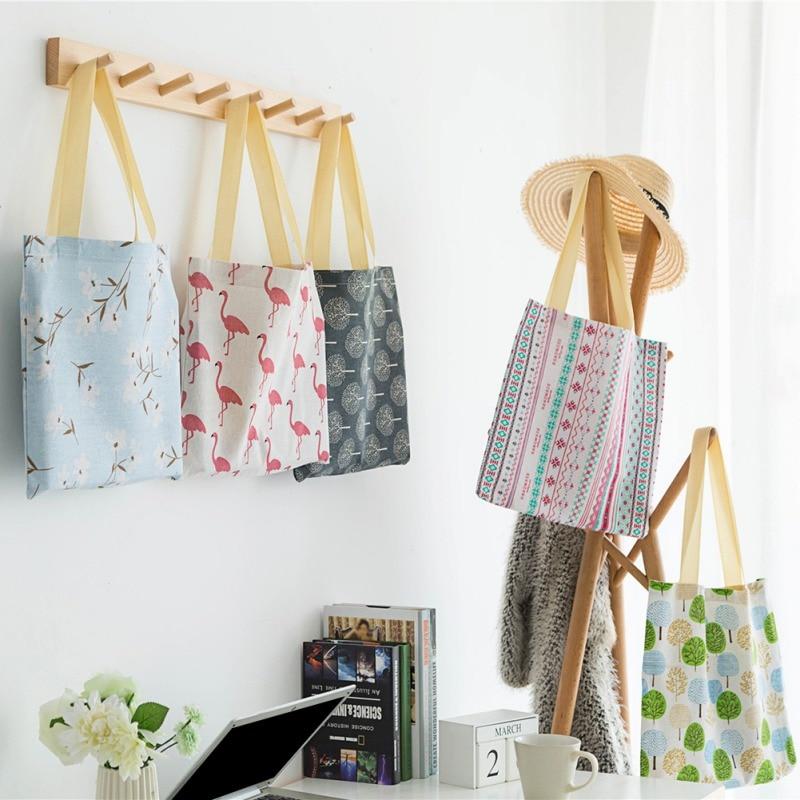 Fashion Ladies Girls Casual Canvas Shoulder Bag Popular Cotton Linen Environmental Ladies Shopping Bag
