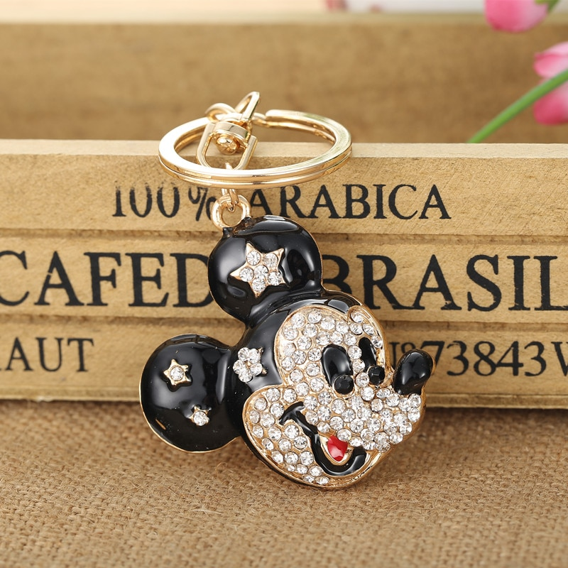 Souris chaude porte-clés cristal porte-clés porte-clés pour noël cadeau bijoux Llaveros pendentif G76
