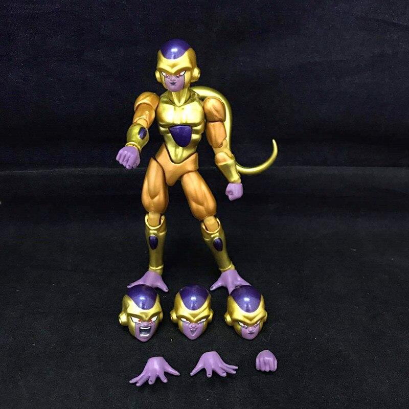 "Figura de acción de Dragon Ball Z de 4,5 "", freezer con freezer dorado, articulación móvil de 12cm, juguete de modelos coleccionables en PVC D362"