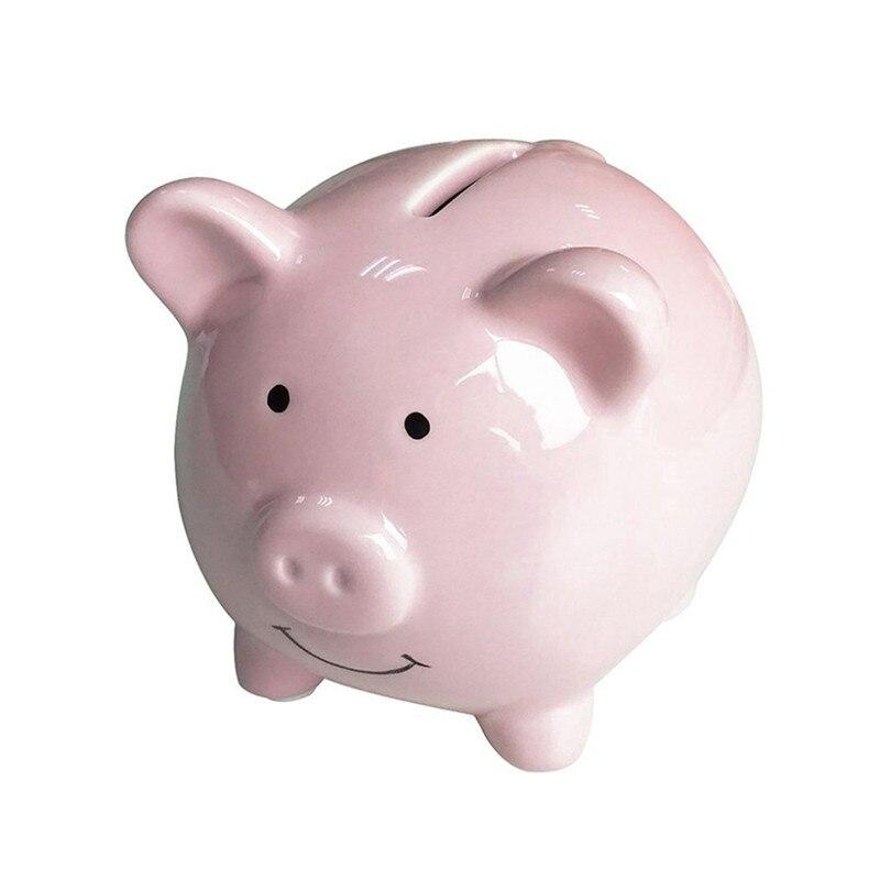 Cofrinho de cerâmica fofo com cachecol, fofo, cofre de dinheiro, moeda, brinquedo para crianças, presentes, coleção de casa, caixa de dinheiro, decorativo, imperdível