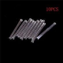 10 шт. 10*100 мм пробирка прозрачное стекло pyrex дующие трубы толстые стеновые лабораторные круглые нижние пробирки