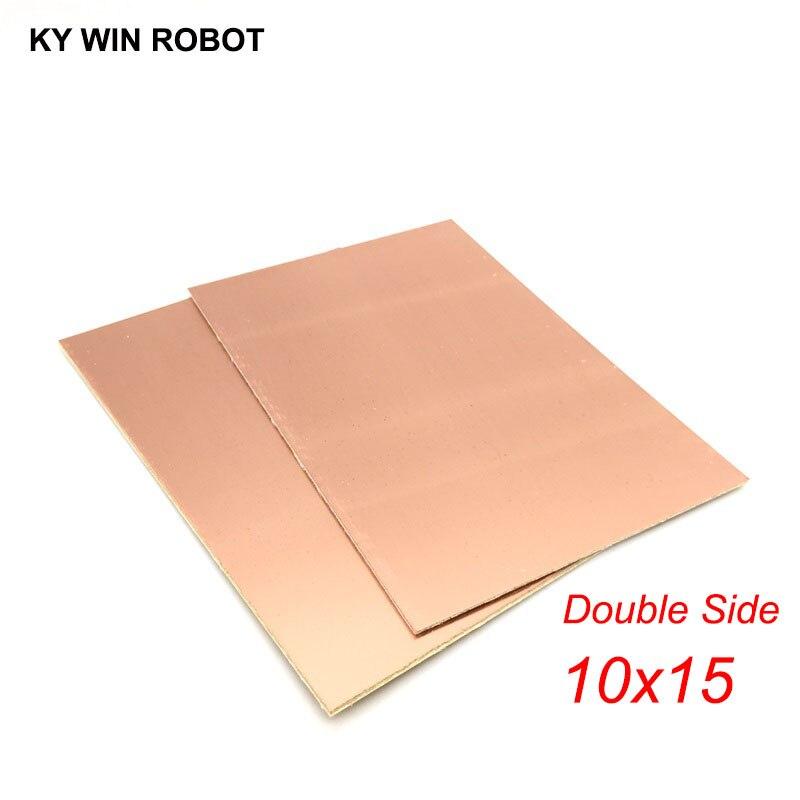 1 pièces FR4 PCB 10*15 cm Double Face plaque De Cuivre Plaqué bricolage PCB Kit Stratifié Circuit 10x15 cm 100x150x1.6mm