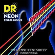 Cordes DR NMCB-40 NMCB-45 NMCB5-45 DR K3 néon cordes de guitare basse, lumière, multicolore