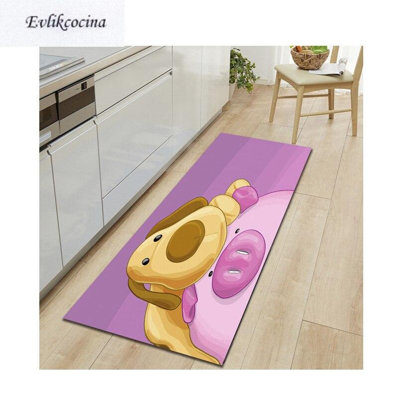 ¡Envío gratis! alfombra absorbente de Tapis salon con diseño de cerdo y dibujos animados para perro de sala de estar, alfombra para piso de habitación, Tapete Infantil