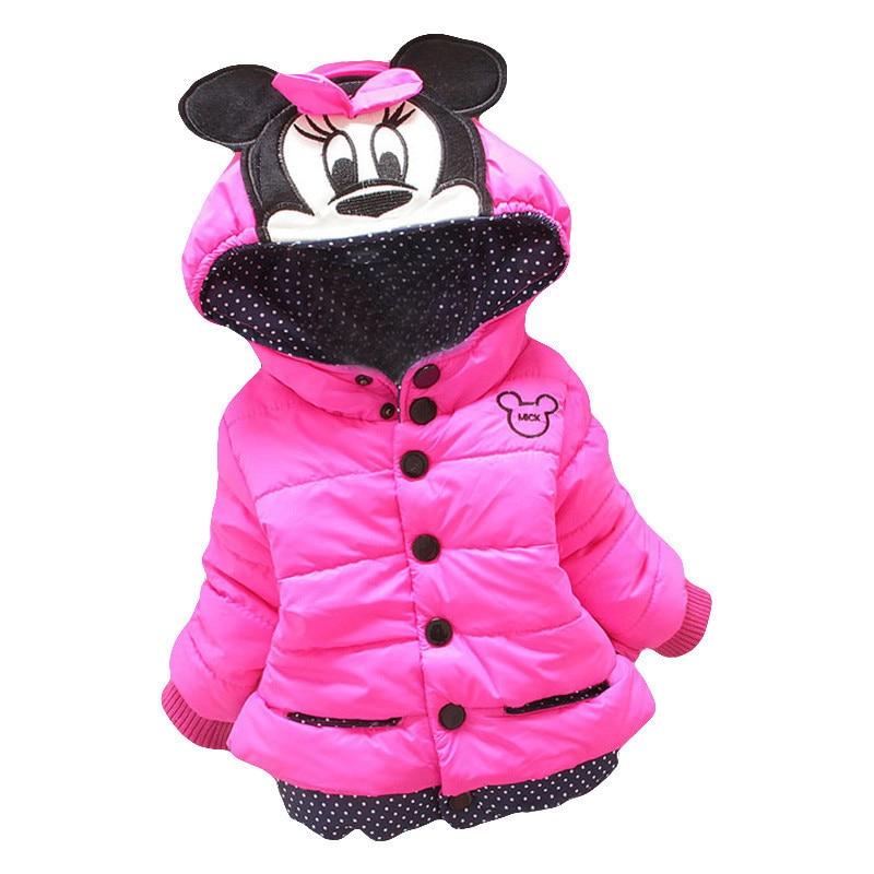 ¡Otoño Invierno 2017! chaquetas de tamaño grande para niñas. Chaqueta de invierno para niñas. Abrigo de Minnie. Ropa para niños. Abrigos cálidos para niñas.