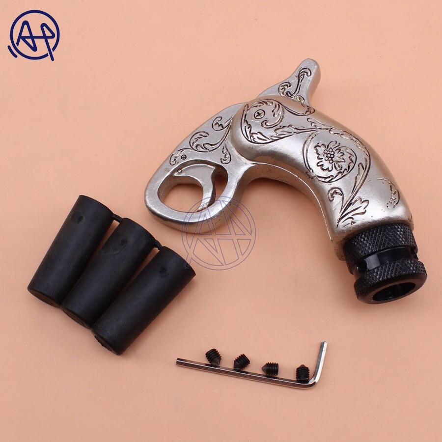 Universal For Car Truck Pistol Handle Gun Style Gear Knob Handle Gear Shift Knob Manual Shifter Shift Lever Knob Handbrake Cover