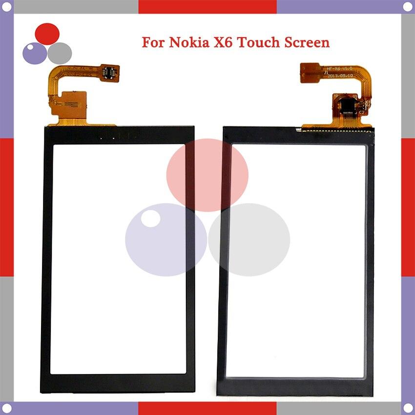 De alta calidad para Nokia X6 Touch Sensor de panel de pantalla digitalizador de Lentes de vidrio exterior