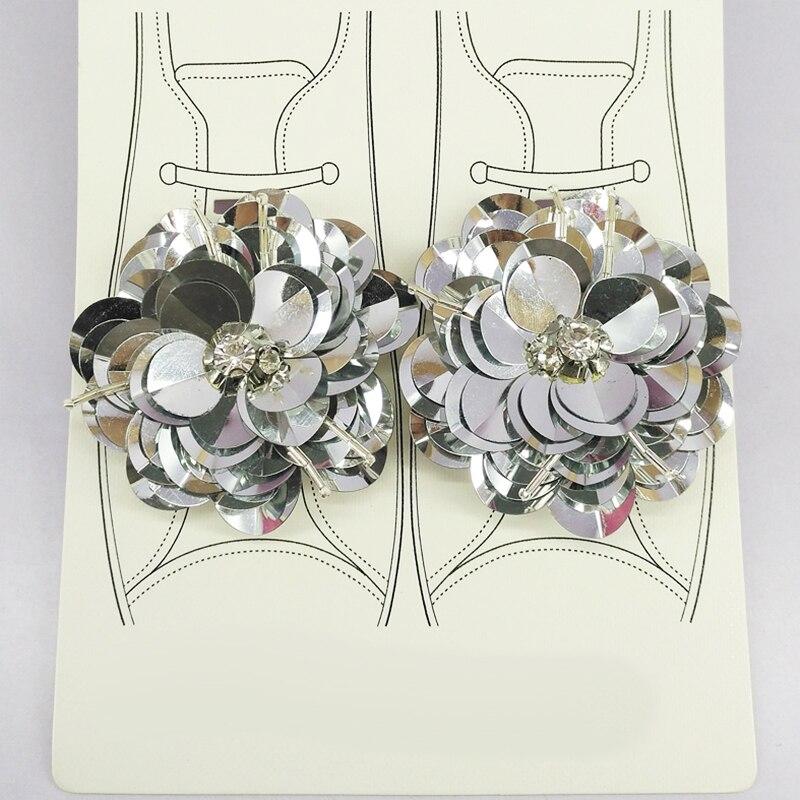 2 Teile/los diy Schuhe Blumen Clips Pailletten Handgemachte Strass Schuhe Zubehör für Kinder Frauen Hochzeit Party Shop Kleine Geschenke