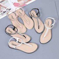 Новые летние сандалии-гладиаторы; женская обувь; женская пляжная обувь с перфоратором; Роскошные Дизайнерские шлепанцы на танкетке с открытым носком и на плоской подошве