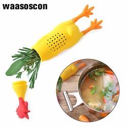 Милый силиконовый куриный Петух Курица силиконовый инфузер для травяной чай приправа горшок контейнер для приправы коробка для специй многоразовый прочный