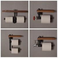 Porte-serviettes de toilette retro en metal  tuyau deau creatif cuisine salle de bains papier Mobile  porte-serviettes de toilette  maison