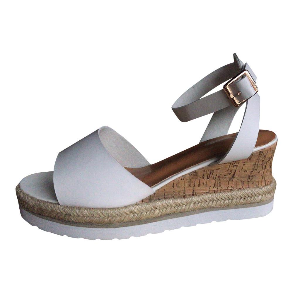 Jaycosin Sandalen Mode Dames Wig Vis Mond Schoenen Romeinse Sandalen Cool Schoenen Dames Casual Wedge Schoenen Outdoor