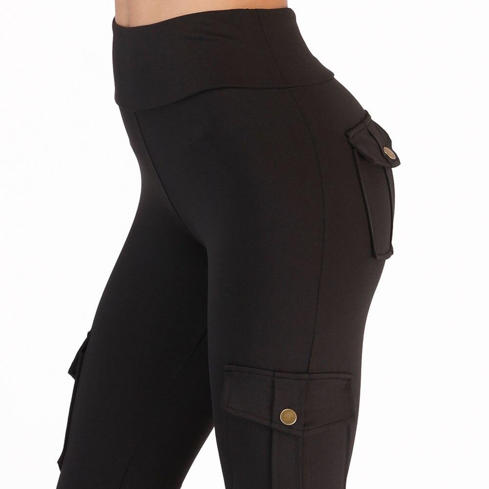 Leggings slim taille haute pour femmes, avec poches latérales, poches latérales, poches, fesses, vêtements de sport pour entraînements