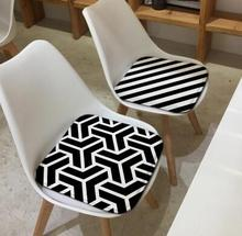 Simple moderno cojín geométrico de oficina cojín negro blanco a rayas cojín colgante asiento cojín silla interior sofá almohadilla
