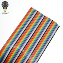 1 metro 1.27 millimetri Spaziatura Pitch40 MODO 40P Piatto a Colori Rainbow Ribbon Cable Wire Per PCB FAI DA TE 40 modo Spille