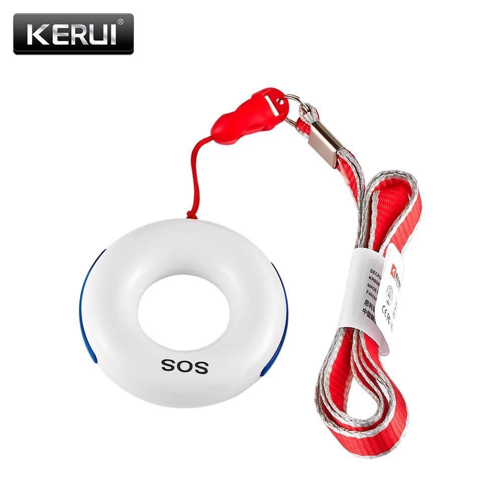 KERUI Drahtlose SOS/Notfall Taste Schlüssel Alarm Zubehör Fallen Detektor Für KERUI Alarm System