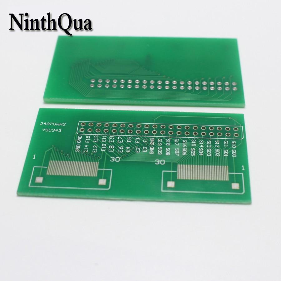 1 unids/lote 30P FFC FPC placa adaptadora 0,5 MM toma de cable plano conector para placa PCB TFT LCD LCM