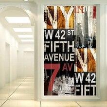 Films adhésifs pour fenêtre en verre   Taille personnalisée, autocollants de porte en papier, mot de ville Opaque, décoration de maison, N1107