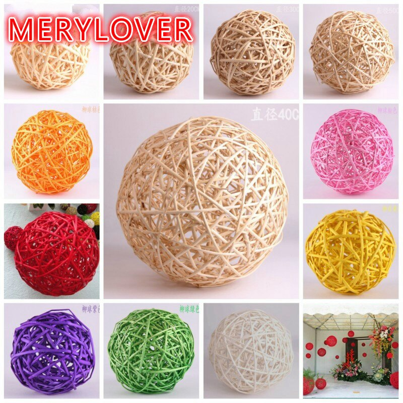 Hot sale 2 pcs/lot 10cm Rattan ball birthday party decoration,Wedding decoration,Christmas Decoration Home Ornament TQ002