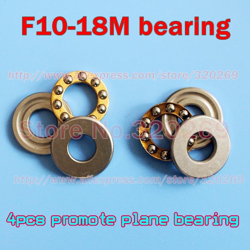 4 pces F10-18M 10*18*5.5mm axial eixo axial rolamento de esferas conjunto avião