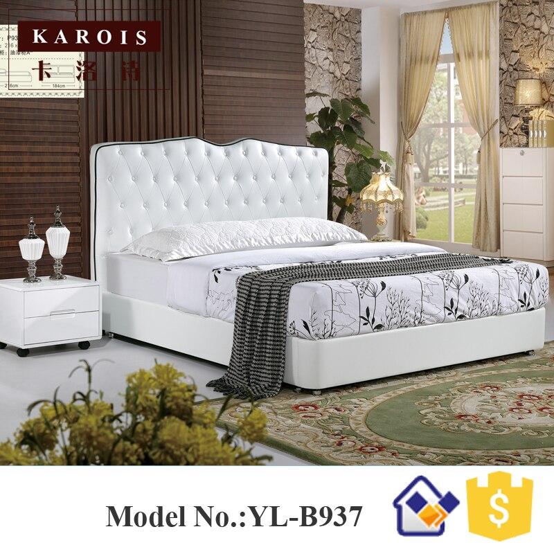 Роскошная модель со стразами белая фотостудия деревянная кровать для