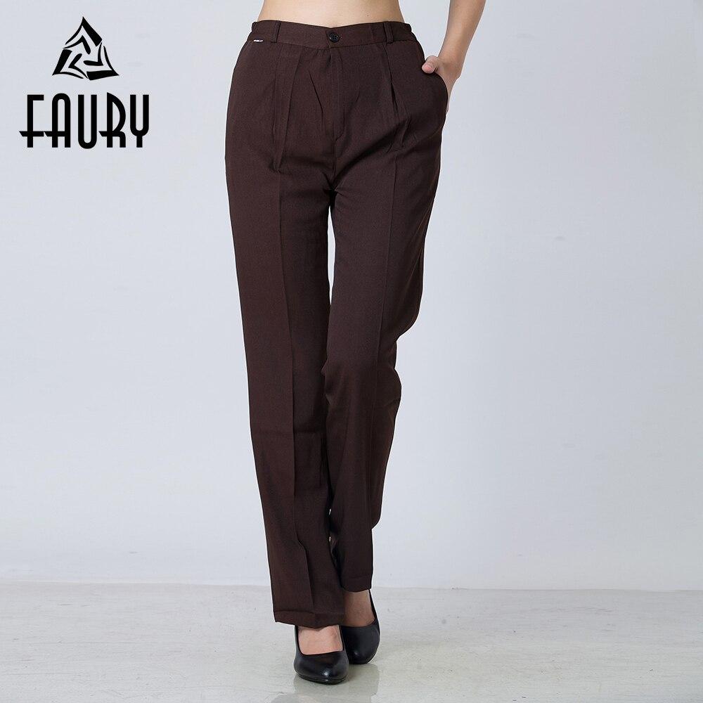 Pantalones largos de trabajo para mujer, traje de negocios, pantalón, restaurante, Chef, servicio de comidas, ropa de trabajo, Pantalones rectos