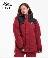 ltvt new ski jacket womens korean style mens and womens couples windproof waterproof outdoor female ski jacket