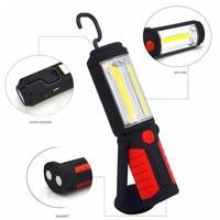Мощный портативный светодиодный фонарик с COB матрицей, магнитный перезаряжаемый рабочий светильник с вращением на 3000 градусов, подвесной с...