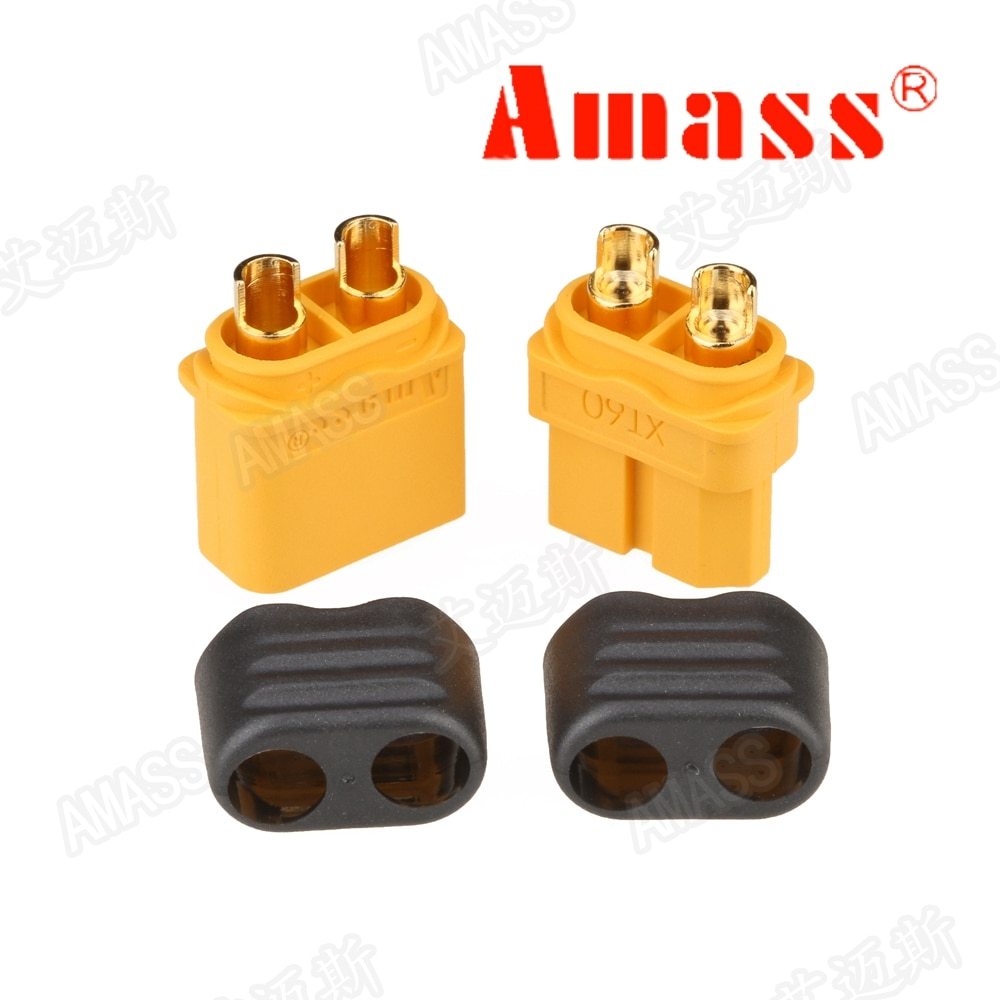 10pcs Amass xt60 XT60H XT30U XT60 XT60U 5 Male 5 Female 5 Pairs RC li-po battery Bullet Connectors Plugs fpv drone frame parts