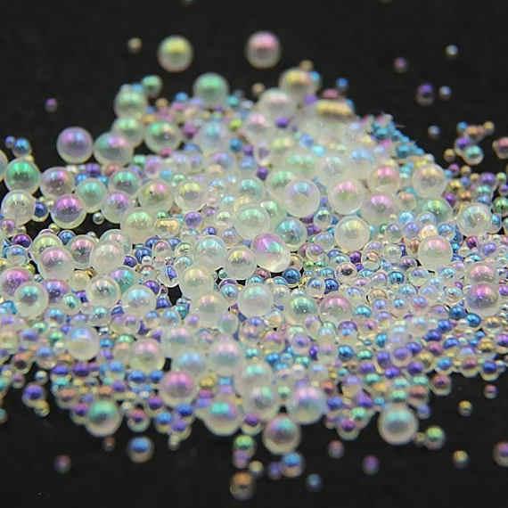 10g Jar Mini Bubble Nail Beads 0 8mm 1mm 1 2mm 1 5mm Mixed Tiny Ball Beads For Epoxy Resin Molds Nail Art Glass Beads Rhinestones Decorations Aliexpress
