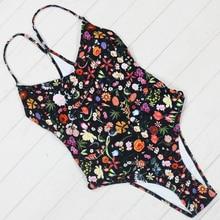 Nouveau Sexy Floral imprimé une pièce maillots de bain Push Up maillots de bain femmes plage maillots de bain ensemble Bandage Monokini body maillots de bain