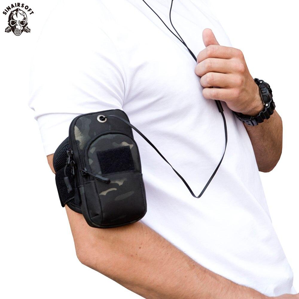 SINAIRSOFT, deportes al aire libre, escalada, cartera funda de teléfono táctica, bolso, bolsas de utilidad militar, bolsas de brazo deportivo para caza