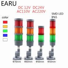 Lampe de pile industrielle multicouche, clignotant LED, tour de signalisation, alarme, lampe de précaution, indicateur de machines, Buzzer, pliable