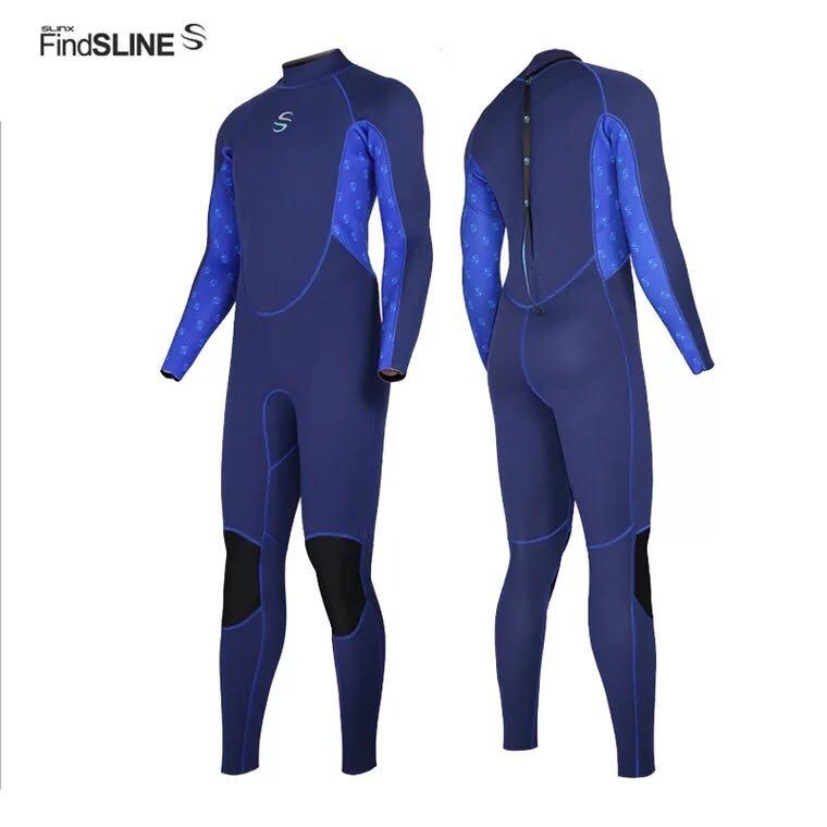 Gran oferta de los hombres 3mm de neopreno traje de buceo traje de cuerpo completo Surf ropa para hombres de buceo pesca submarina, trajes de agua