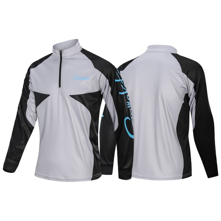 Gamakatsu Male Long Sleeves Fishing Clothing Jersey Anti-UV Breathable Sportswear Fishing Clothes Sets Fishing Shirt