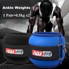 Pesos ajustáveis do tornozelo & do pulso 1kg com enchimento de areia de aço que corre o treinamento da recuperação da força das pernas do exercício de caminhada