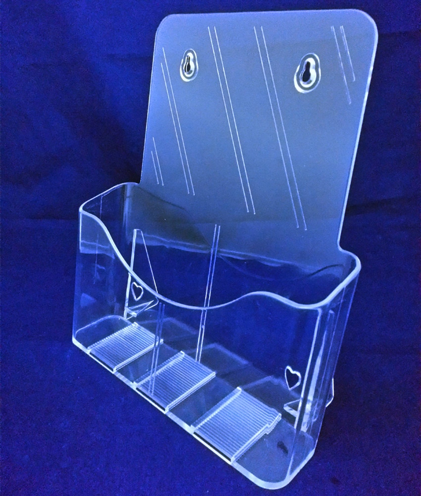 Clear A4 Single Tier Plastic Acrylic Brochure Literature Pamphlet Display Holder Racks Stand To Insert Leaflet 40pcs