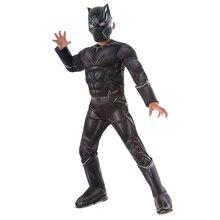 Ragazzi Guerra Civile Black Panther Costume di Lusso