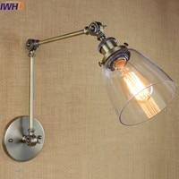 Vintage Sconce wall lights For Home Lighting fixtures Glass Iron loft wall lamp Bedroom Bathroom Light Luminaire Bed wandlamp