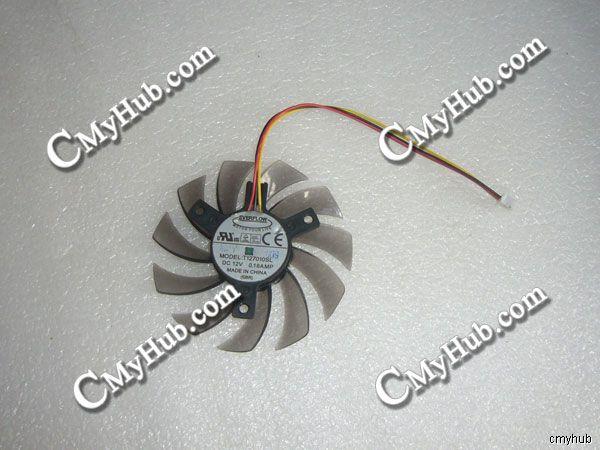 Genuíno Para GigaByte GT220 GT430 GT440 GT460 DC12V 3Pin 3 Fios Ventilador de Refrigeração da Placa Gráfica Everflow T127010SL 0.18A