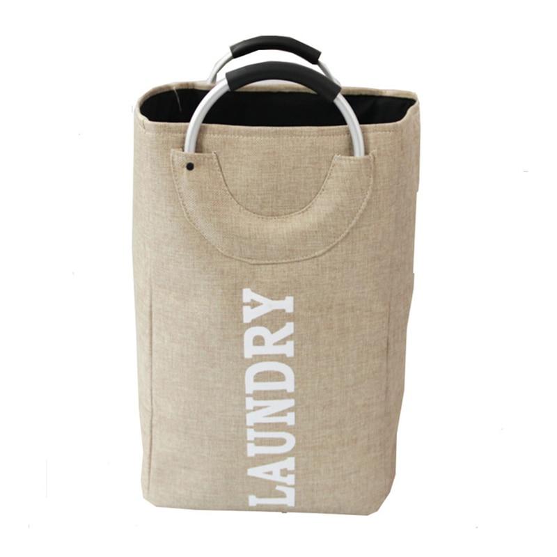 1PC Portable Clothes Laundry Basket Storage Basket Folding Clothes Portable Clothing Storage Bag Picnic Basket