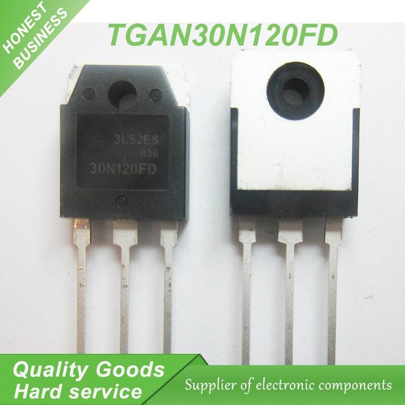 10 piezas envío gratis TGAN30N120FD TGAN 30N120FD 30N120 TO-3P 30A 1200 V MOS, Canal N transistor nuevo original