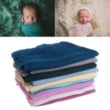 40*150cm Baby Blanket Newborn Soft Swaddle Wrap Crochet Blankets Photo Props