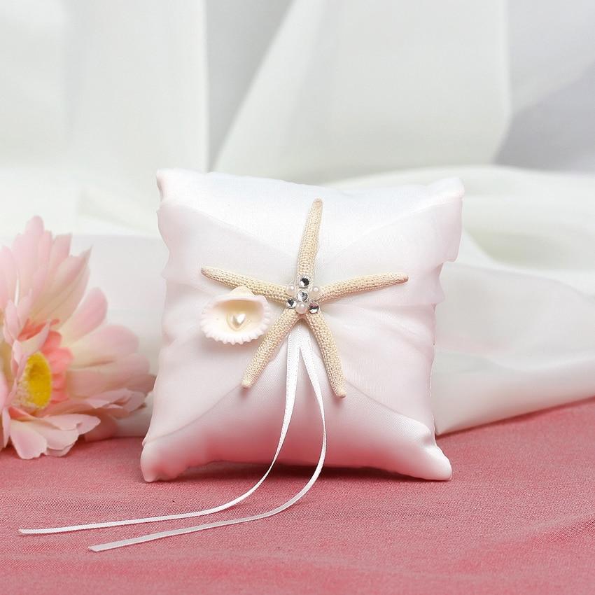 Anillos de Boda de estrella de mar, almohada de Boda, Detalles de...