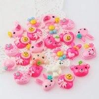 Cabochons en resine Style Mix  30 pieces  fleurs miniatures  poisson bonbon  pour la decoration de telephone bricolage decoration de la maison
