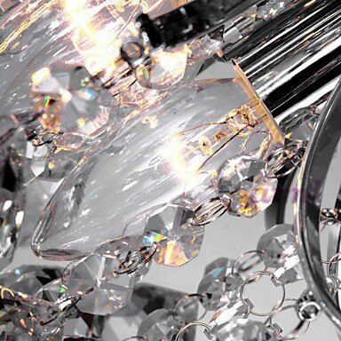 K9 Crystal light 40W Chandelier Modern K9 Crystal 3 Lights Transparent 110-240v 40*40*28cm free shopping  - buy with discount