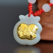 Jade pendentif collier pour hommes femmes enfant bébé cadeau bonne chance haute qualité bijoux pendentifs