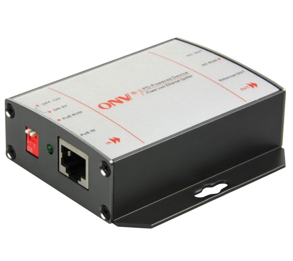 10/100/1000M PoE Splitter ile DC 5V/12V çıkışı. Uyumlu IEEE802.3at (24W)