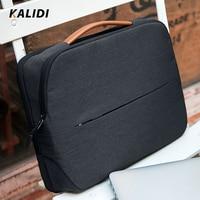 KALIDI Laptop Bag 11 12 13.3 14 15.6 Inch Waterproof Notebook Bag 15 Inch For Macbook Air Pro13 15 Black Laptop Sleeve Women Men