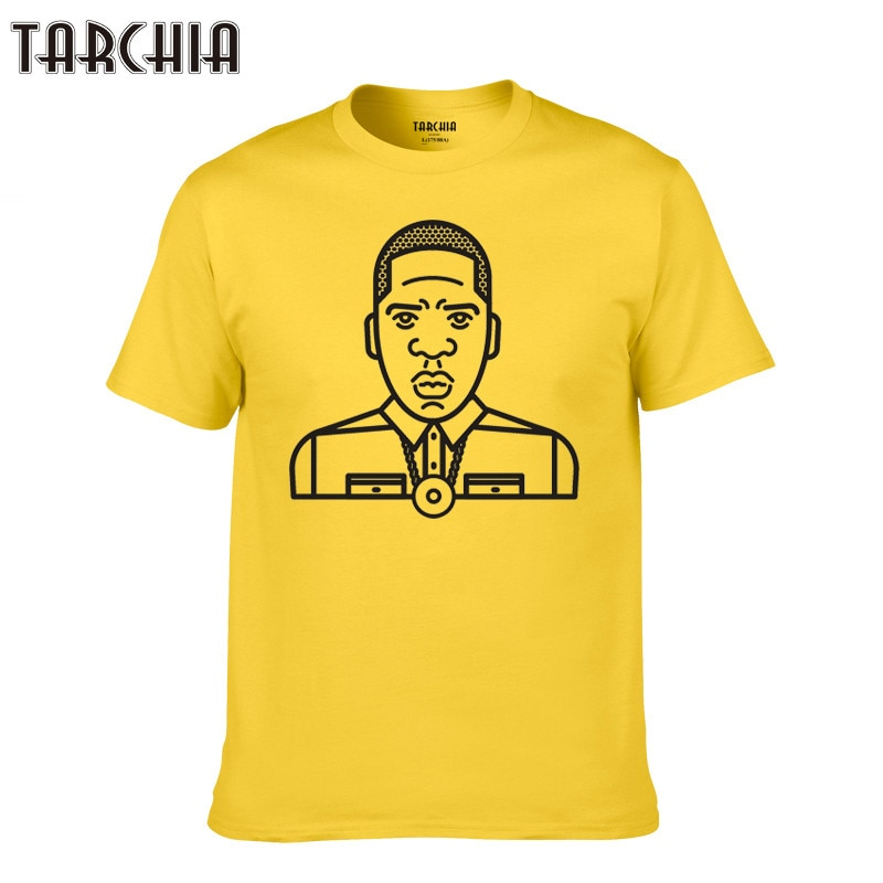 Tarchía 2018 hombres camiseta marca hip hop homme camiseta música corta moda JayZ algodón camisetas rapero camisetas manga niño casual verano